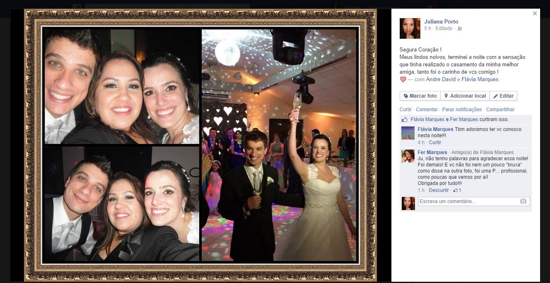 Agradecimento Irmã da Noiva Flavia e Andre - New
