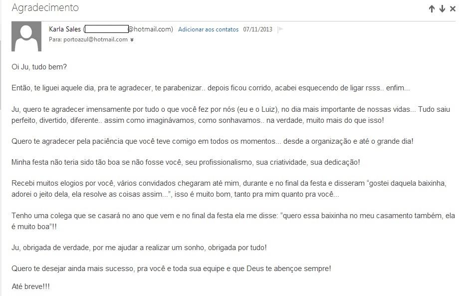 Agradecimento Karla e Luiz Anesio - New