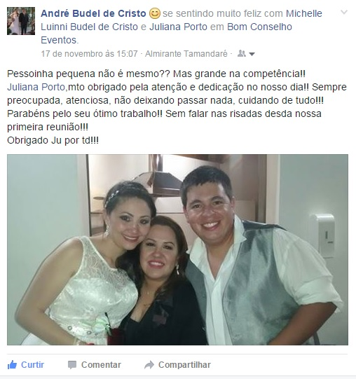 Agradecimento Michele e Bruno - New
