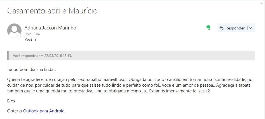 Agradecimento Adriana e Mauricio - New
