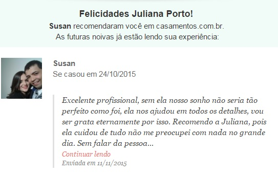 Agradecimento Susan - New